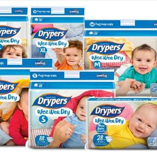 Drypers for sale **All sizes avail**