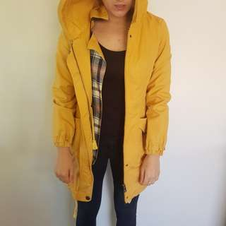 Parka yellow jacket coat parker