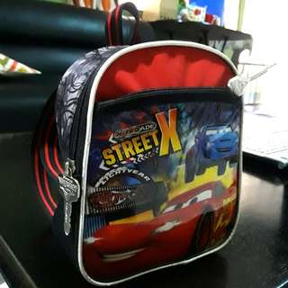 Orig Disney Cars Lightning McQueen Backpack