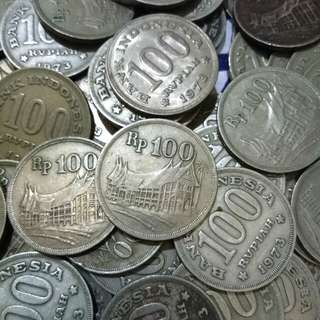 Koin 100 tahun 1973 (3pcs)