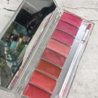 lip palette peach & pink.. kondisi 95%