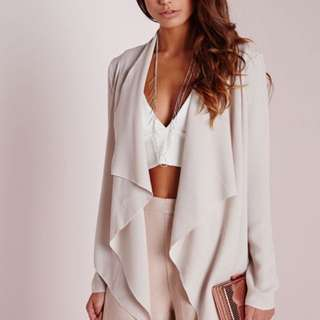 Missguided waterfall blazer
