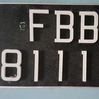 No. Plate for sell F B B 8 1 1 1 B