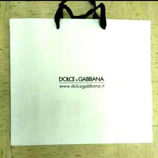 DOLCE & GABBANA paper bag , DOLCE & GABBANA紙 袋