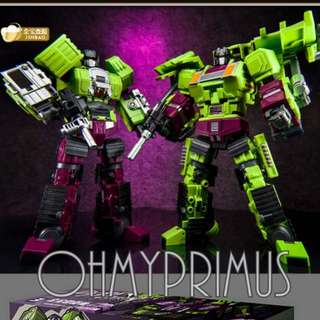 Jin Bao JinBao - KO Oversize Transformers Masterpiece MP Generation Toy Gravity Builder - Devastator (Set A - Bulldozer & Navvy )