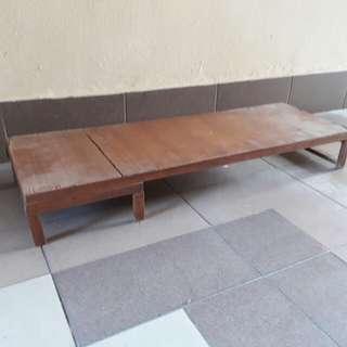 vintage wooden stand raised platform