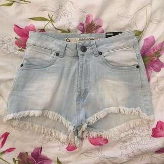 Factorie light blue denim shorts