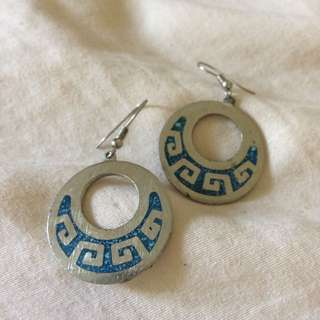Aztec pattern earrings