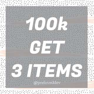 PROMO BUY 3 ITEMS FOR ONLY 100k
