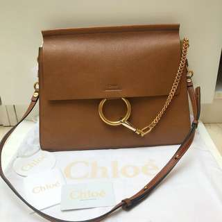 全新 Chloe Faye Shoulder Bag in Caramel colour (Original Price $16,030!!)