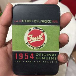 Tin card fossil authentic, new,