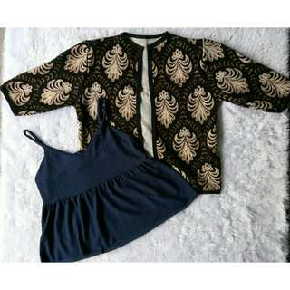 Bundle Blazer & Seeveless Top