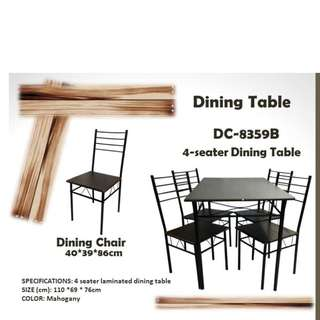 4/6 seater dining table w/ chairs