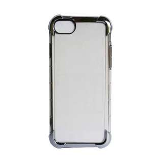 Anti Crack Case for Iphone 7 plus Casing Hitam Transparan