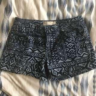 Denim Cotton On Aztec Pattern
