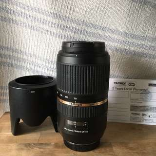 Tamron SP 70-300 f/4-5.6 telephoto lens for Sony Mount
