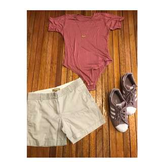 Pink Blouse and Off White Shorts (TERNO for SALE!)