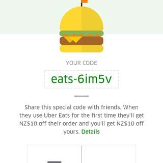 $10 off on uber eats