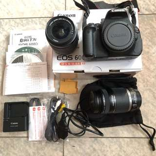 Canon DSLR EOS 600D Kit with 55-250MM Lens