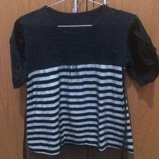 Baju hitam strip