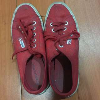 RED Superga Sneakers