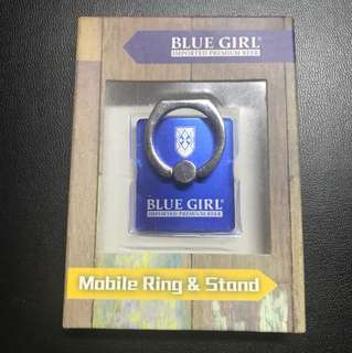 Blue girl-Mobile ring & stand