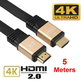 5-meter 4K HDMI Cable Premium Ultra High Speed V2.0 18Gbps 2160P