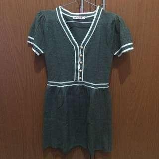 Baju bahan sweeter gray
