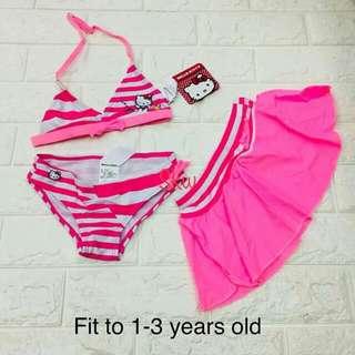 BRANDED swimwear for kids   Fabric soft elastane/spandex  3-1 swimwear skirt with undies