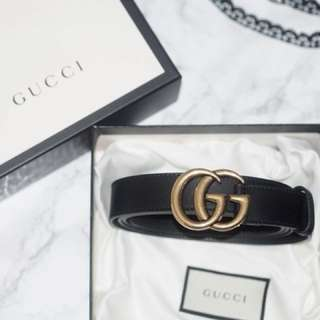 Gucci Leaher Belt with Double G Buckle