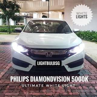 Honda civic FC - white headlight bulb replacement  (Philips Diamondvision) H7 H4 H8 H11 HB3 HB4