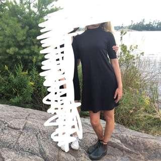Black Mock Neck Tshirt Dress