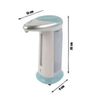 Soap Magic Hands-Free Soap Dispenser (White/Light Blue)
