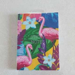 Flamingo Tropical Sticky Notes