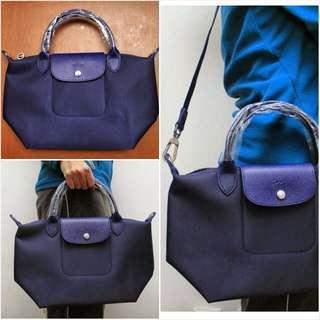 Longchamp Neo, Blue, M size, 99% New!!