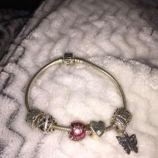 Silver Pandora Charm Bracelet