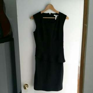 Max and Cleo Black Peplum Work Dress