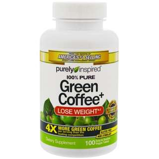 In stock Purely Inspired, Green Coffee+, 100 Veggie Tabs