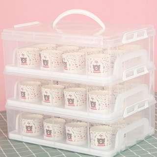 透明環保手提36紙馬芬杯蛋糕盒