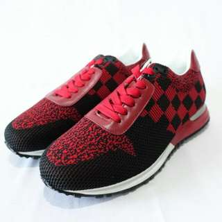 SEPATU LV SNAEKER 8032 RUNWAY RED BLACK GRAPITH MIRORR QUALITY FOR MEN