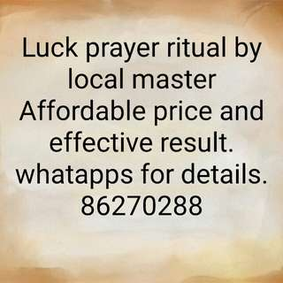 Luck prayer ritual