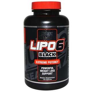 Nutrex Research Labs, Lipo6 Black, Extreme Potency, Weight Loss, 120 Capsules