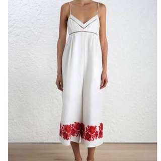 Zimmermann Roza Border Jumpsuit