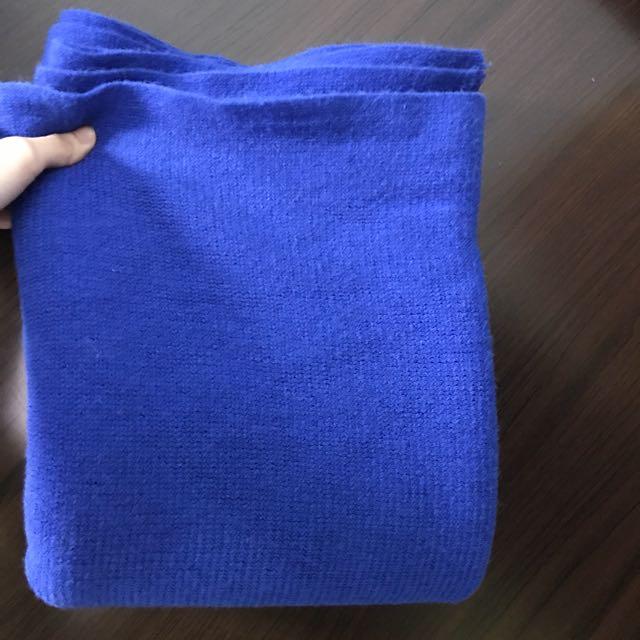 好評0元》藍色圍巾