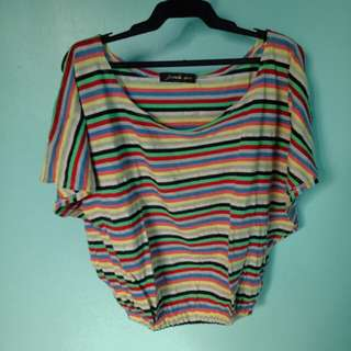 JEWELS COLORFUL STRIPES BLOUSE