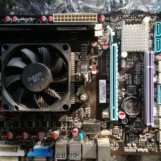 FM2底板& AMD A10 cpu