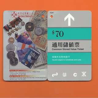 70-NEW CENTURY COLLECTIONS CO.-香港地鐵通用儲值票,背有廣告,無面值