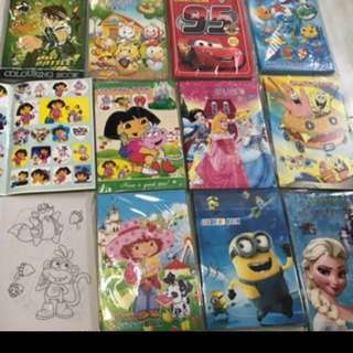 Instock Coloring And Stickers Book buy 2 for $5