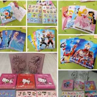 Instock Mini Coloring And Stickers Book Brand New