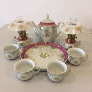 Wedding Tea Set with Oil Lights